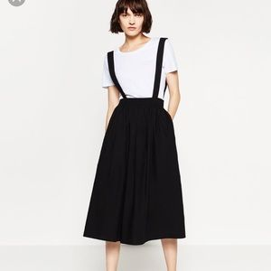Zara black skirt with straps